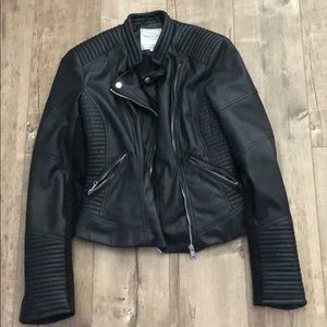 Zara Vegan Leather Moto Jacket